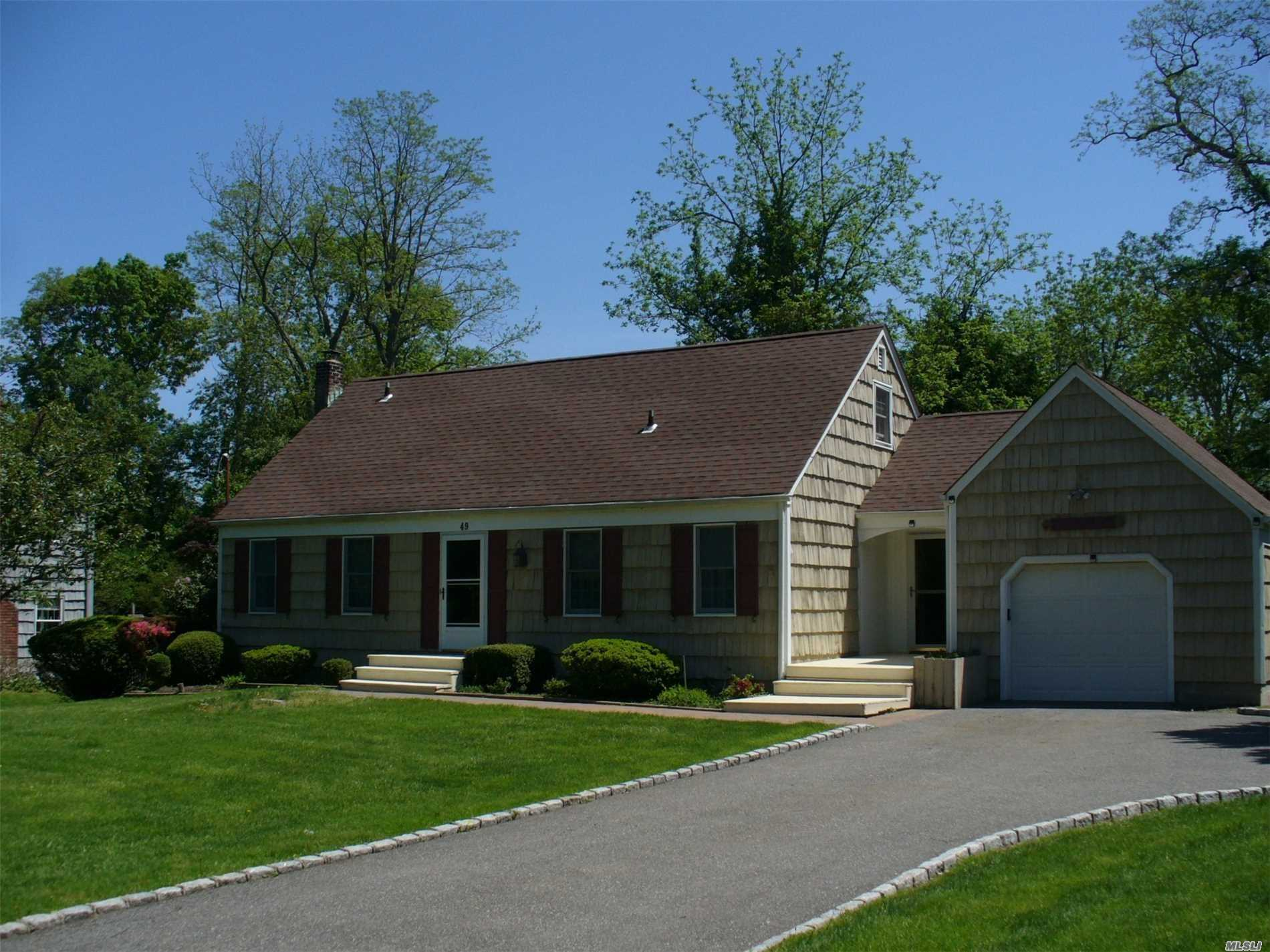 Traditional Expanded Cape On Shy 1/2 Acre Short Walk To Community Beach - Annual Dues $50. Master Suite, 3 Add'l Brs And 1.5 Baths. Foyer, Lr, Fml Dr, Eik. Lrdy Rm. Full Basement, Attached Garage. Large Yard With Spacious Deck With Room For Pool And Children To Play.