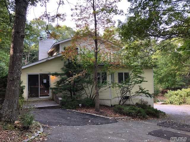 Contemp Home Located On Private Rd. Open Floor Plan W/ Lots Of Natural Light From Sky Lights & Windows. Wood Floors W/Modern Fireplace. Sliding Glass Doors Lead To Wrap Around Deck, Ig Pool And Hot Tub Perfect For Summer Entertainment. 2nd Floor Master Suite Features A Walk In Closet, Master Bath And Private Patio. Master Bath Has Beautiful Stonework, Glass Shower W/ Seat