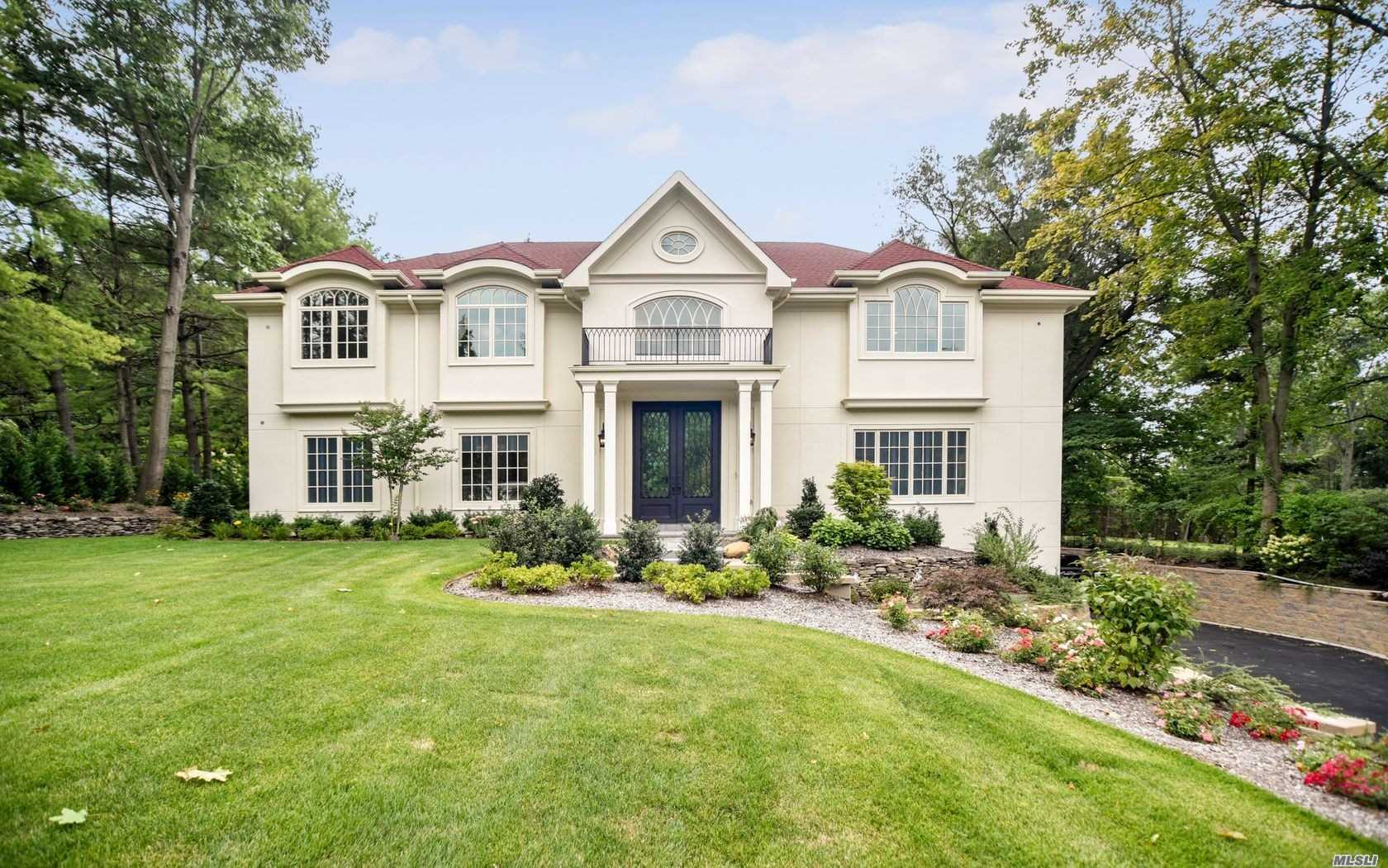 Magnificent New Custom-Built 6800 Sqft C/H Colonial W/Winter Water Views And Architectural Details Thru-Out, Double Height Entry Foyer, High Ceilings, Custom Moldings, Marble & Wood Flrs. Grand Entertaining Lr, Banquet Size Dr, Den, Huge Gourmet Eik, 7 Large Brs, 5 Marble Bths, 3 Powders Rms, Radiant Heat In Kit + Foyer. Full Walk-Out Fin Lower Level With Movie Theatre & 2-Car Garage.