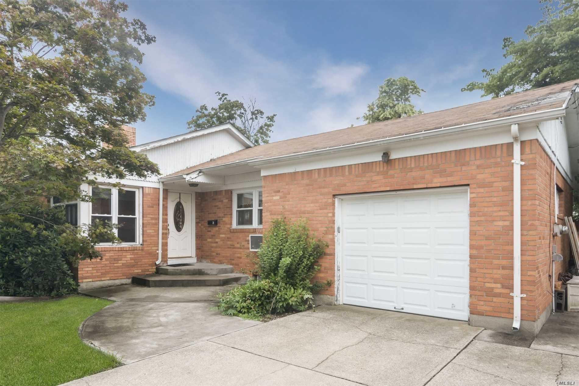 Spacious 3 Bedroom, 2 Full Bath Ranch In The Heart Of Hicksville. Featuring An Updated Kitchen And Full Finished Basement. Large Oversize Property, A Must See!!
