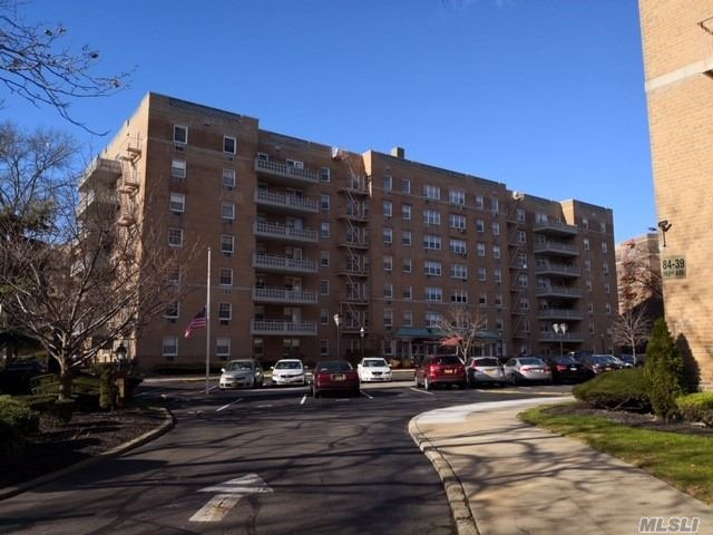 Newly Renovated Large One Bedroom Condo And Lot Of Storage Space, 750 Sq Ft With Only $424 Common Charge. Parking $30 For Outside And $60 For Garage. Q21, Q41 To A Train Rockaway Blvd Station. Blocks Away From Qm15 Bus To Manhattan. Close To The Shopping Mall. Must See!One Dog Allowed Under 40 Lbs. Storage Units $34 - $68 Depending On Size And Availability. Minimum 20% Down. Unit Must Be Owner Occupied Minimum Two Years Before Sublet.