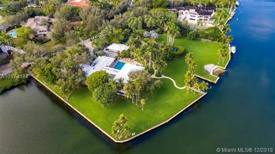 A Once In A Lifetime Opportunity To Purchase One Of The Largest Parcels Of Land Situated Within The Secure Gates Of Gables Estates. The Property Is Over 3 Acres With 750 Feet Of Water Frontage On A Wide Water Basin With Endless Unobstructed Views Leading To The Bay. This Magnificent Residence Offers Limitless Areas For Entertaining With Infinite Water Views, Lush Gardens, A Pool, Grandfathered In Tennis Court And Private Beach. Room For Up To 150' Yacht.