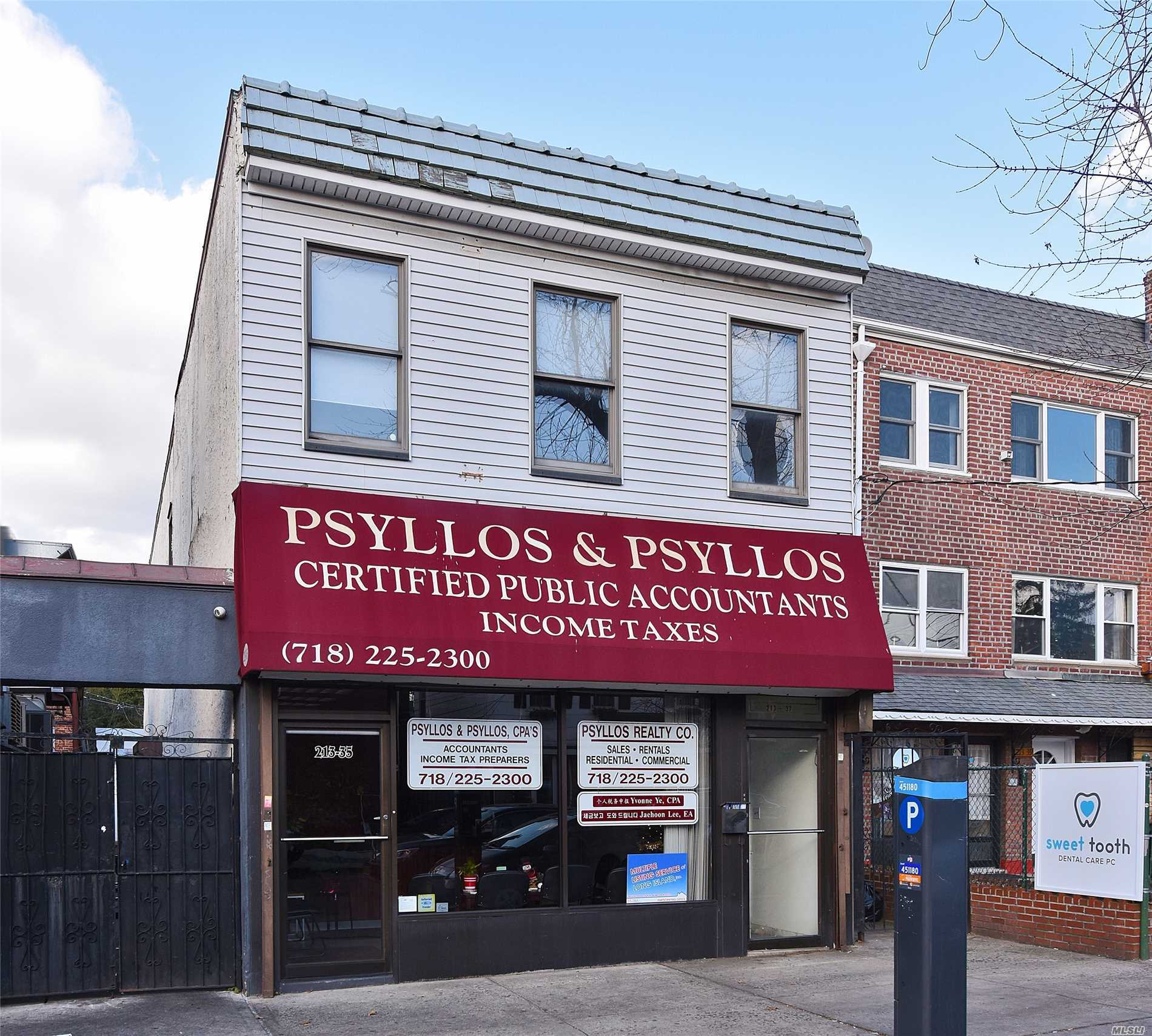 1500 Sqft Office Space On 2nd Floor For Lease. Unbeatable Location, Excellent Foot Traffic, Feet Away From Bell Blvd, 1 Block To Bayside Lirr Station, 1 Block To Municipal Parking Lot, 4 Blocks To Northern Blvd. $3, 500/Month Nn (Prop. Taxes Paid By Landlord, Utilities Paid By Tenant)