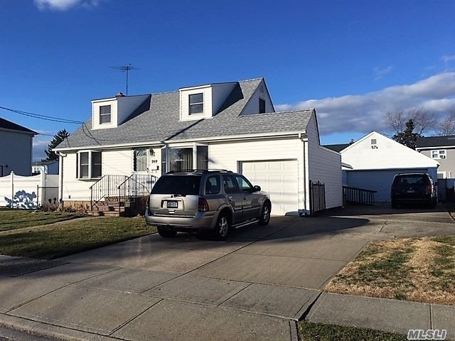 Extended 4 Bedroom, 2 Bath Cape In Plainedge Sd. Handicapped Accessible. Very Large Extended Eik W/Ose To Backyard, Hardwood Floors, Extended Finished Basement W/Ose, Oil/Hw 2 Zone Heat, New Hw Heater, 200 Amp Elec, Roof Approx. 2 Years, Anderson Windows, 1 Car Att Garage + 2.5 Car Detached Garage W/Attic, 3 Zone Igs, New Sewer Hookup, Gas In Street. TAXES HAVE NEVER BEEN GRIEVED.