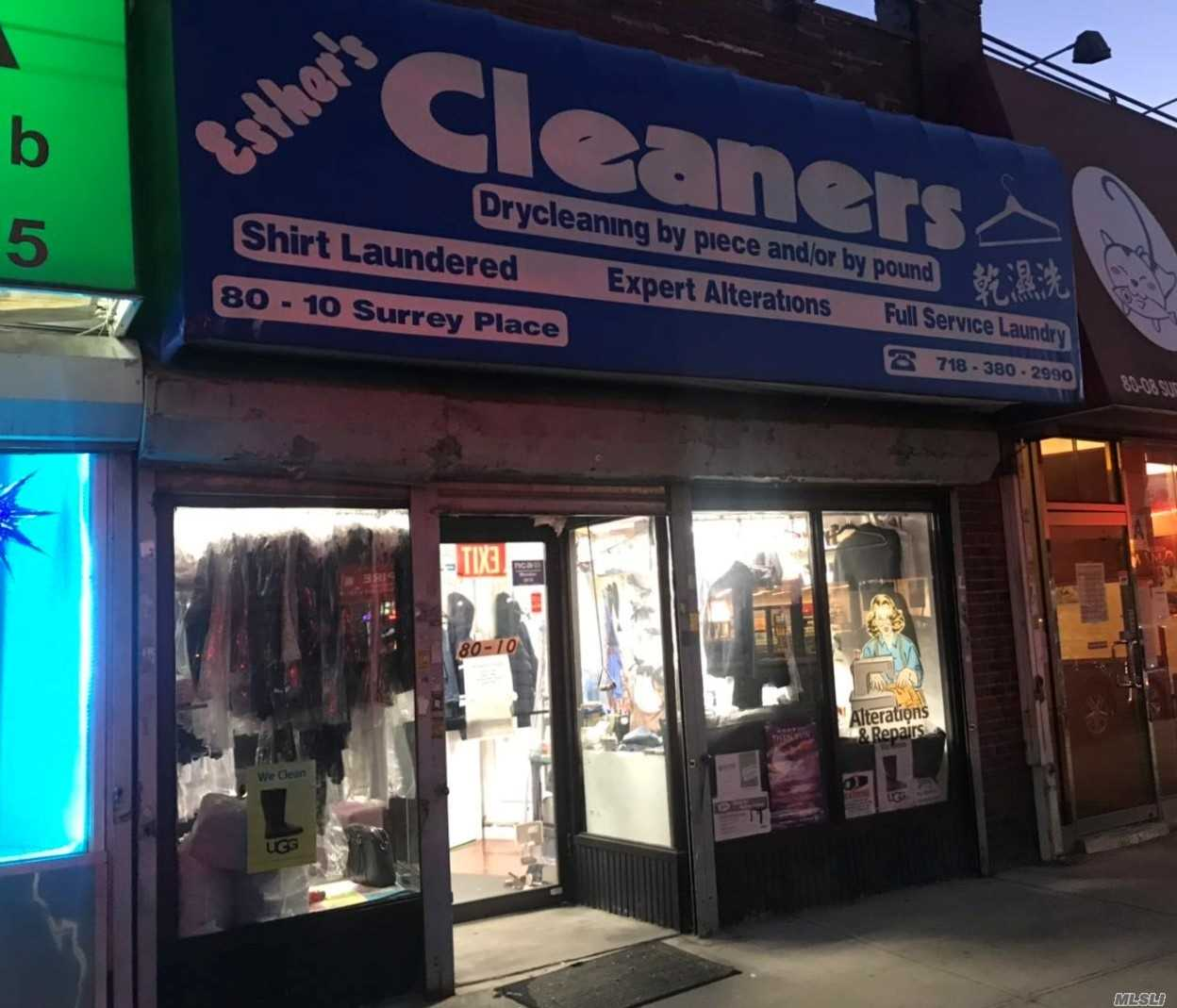 Dry Cleaner Busy Business Area 900 Sf Retail Space.Business Has Been Established For The Past 10 Yrs. There Is 1 Years Left , And The Lease Will Renew Every 5 Years.