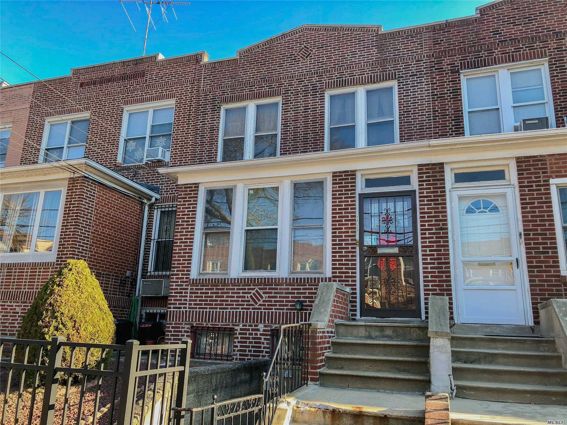 Legal 2 Family Brick House In The Ditmars Section Of Astoria. Prime Location, Just 2 Short Blocks From The Train, 2 Blocks From Ditmars Blvd, And 3 Blocks From Hoyt Playground. Sitting On An Extra Long 20 X 129 Lot And Offering 1, 364 Sq Ft Of Living Space, This House Features 4 Bedrms, 2 Baths, Full Finished Basement With Front And Rear Entrance, High Ceilings, Wood Floors, Eat-In-Kitchens, Enclosed Balcony, Private Fully Paved Backyard, Detached 2 Car Garage, And Much More. House Needs Some Tlc