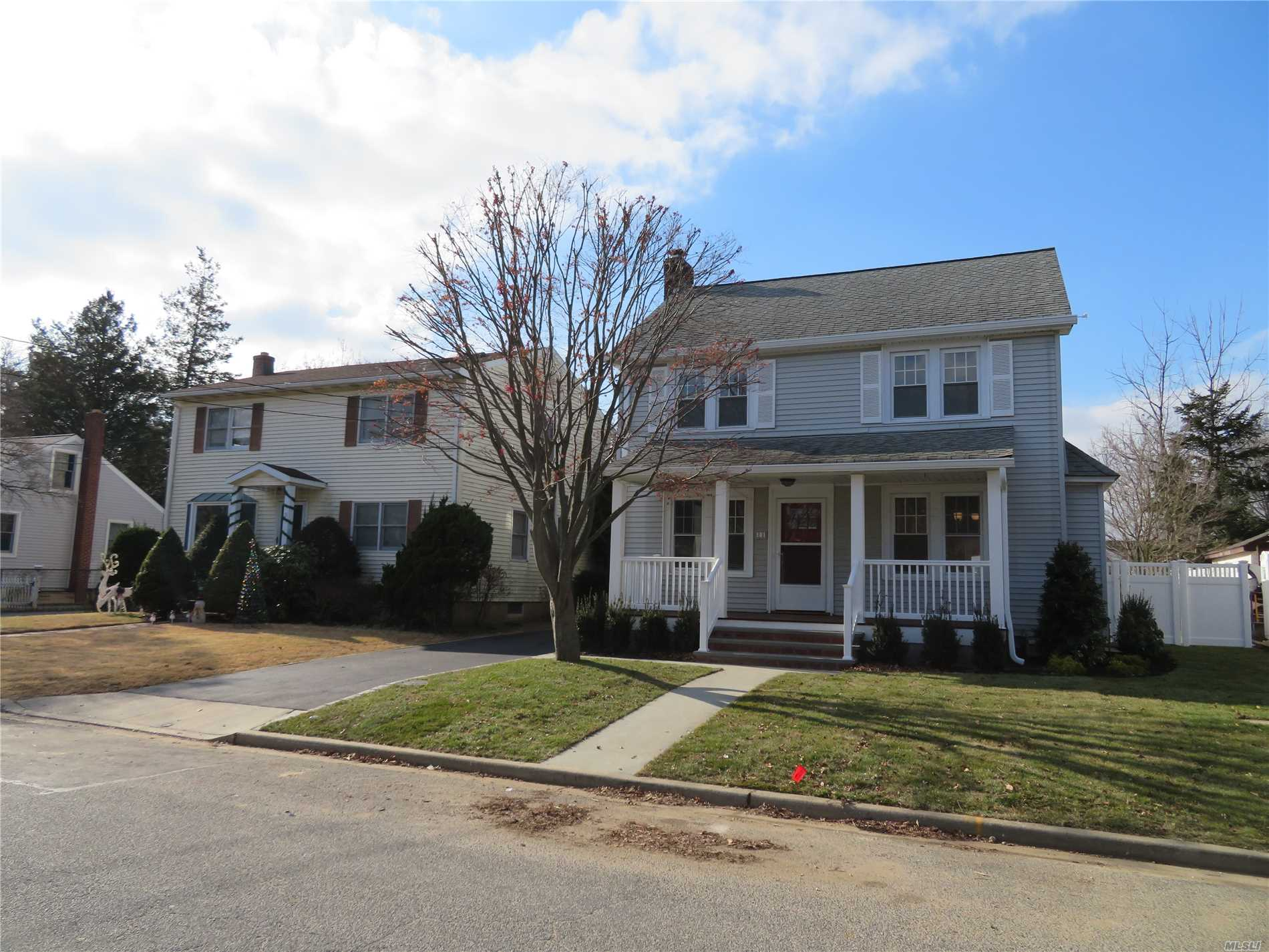 Totally Redone House, New Kitchen, New Bathrooms, Cac, W & D, Lrm/Fp, Fdrm, Pr, Mbrm, Mbath, 2 Brms, 1Bath, Detached 1 Car Garage, Lovely Porch, Professionally Landscaped,  A Must See!!!!