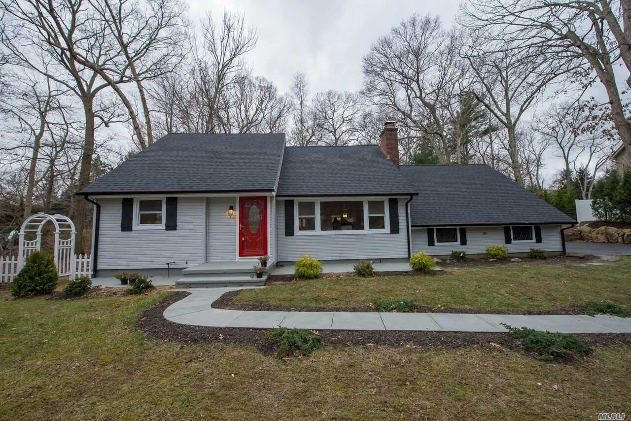 Picture Perfect North Shore Cape Cod! Totally Renovated With Quality Craftsmanship! New Chefs Kit W/Quartz & Marble, 2 New Baths, New Heating System, New Roof, Siding, Windows, Electric, Copper Gutters, Oak Floors & Custom Woodwork Throughout. Beautiful Shy Acre With Specimen Trees & Shrubs, Private Beach Community! Low Taxes!!!
