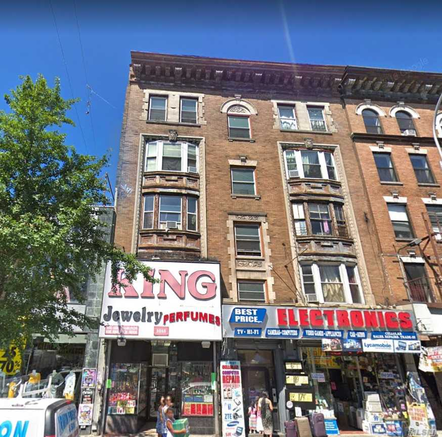 Huge 8 Family Plus 2 Stores 5 Story Building. Every Unit Has 5 Bedrooms And 1 Bathroom. One Store Is 4000Sf, The Other One Is 700Sf. Commercial Monthly Income Is $25000 And It Can Be Delivered Vacant. Upgraded Electric And Gas Heat.