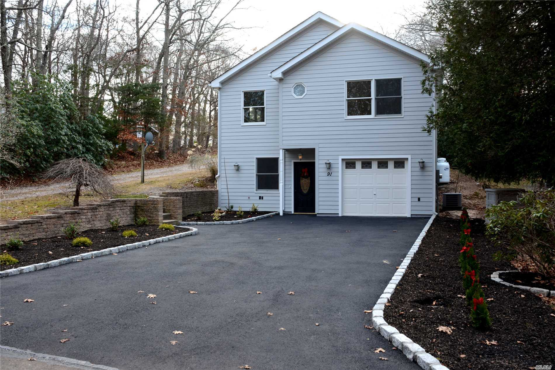 Move Right Into This Beautiful New Construction Three Bedroom, Two Full Bath, Wood And Tile Floors, 1 Car Garage Located In A Quiet Spot Adjacent To Wildwood State Park. Surrounded By Golf Courses, Vineyards And Minutes Away From The Beach. Peconic Tax Applies.Had An Offer, Deal Fell Through.