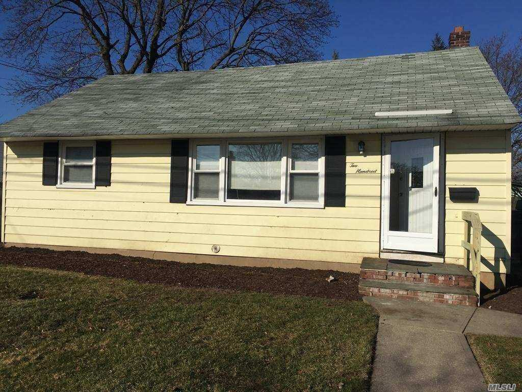 One Family Ranch Whole House For Rent. 3 Bedroom, 1 Bath, Full Basement, Updated.