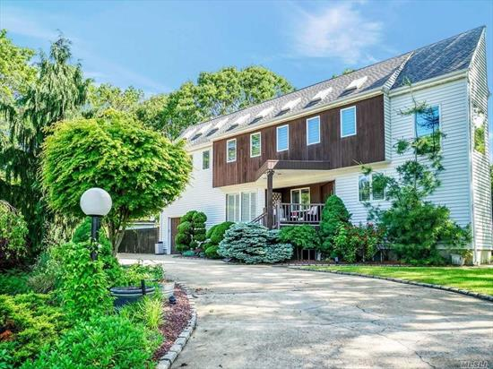 Bright & Beautiful 4 Br, 3.5 Bath Home On Prof Landscaped Fenced Property W/Ig Pool & Huge Circular Driveway, 6 Y.Old Eik W/ Quartz Counter, Double Sink & Newer Appliances, Fdr W/ Sliders To Deck, Steps Down Flr W/ Fpl, Mbr, Mbth W/Jacuzzi, 2 Brms W/ Balcony, Vaulted Ceilings, 8 Skylights, New Bath, Andersen Windows, New Wood Floors & Carpet. Full Fin Walk- Out Basement W/ Den/Fpl, Office, Br & Fbth. New Hi-Eff Buderus Heating System, 3 -Zn Gas Heat, 3-Zn Cac,  Cvac & 8 Y.Old Arch Roof/ Gutters