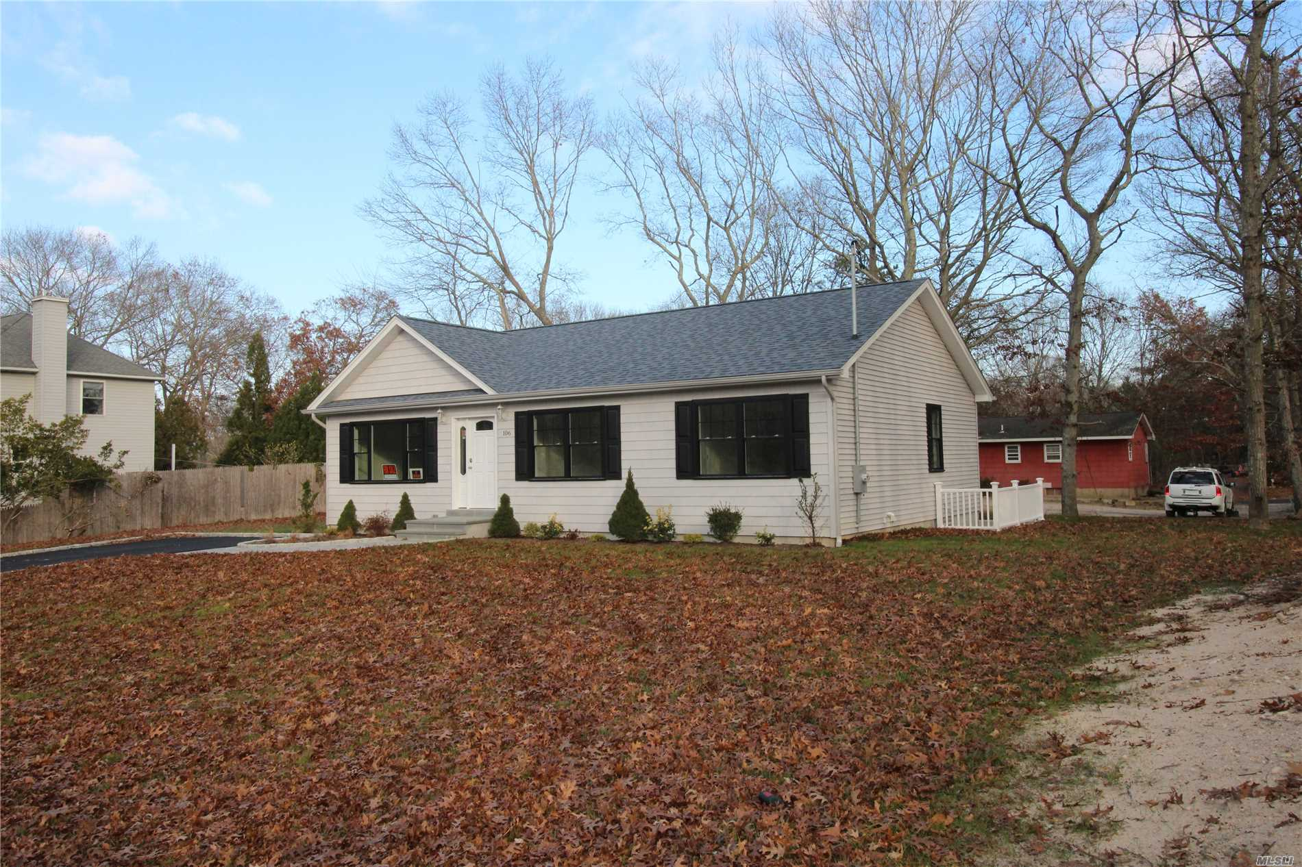 New Contemporary 1, 350Sq.Ft.Ranch. Features Vaulted Ceiling L/R W/Laminate Flooring Throughout. Eat In Quartz Kitchen W/Stainless Appliances.Mastr.Bedroom W/Private Bath & Double Closets.Two Additional Bedrooms&Bath.Full 8'Ceiling Basement With Exterior Staircase&Egress Window.Citygas Heat.All Energy Star Home.Cobblestone Lined Driveway, Rear Stone Patio, Cac, Centralvac, 2X6 Const.. A Must See Home!