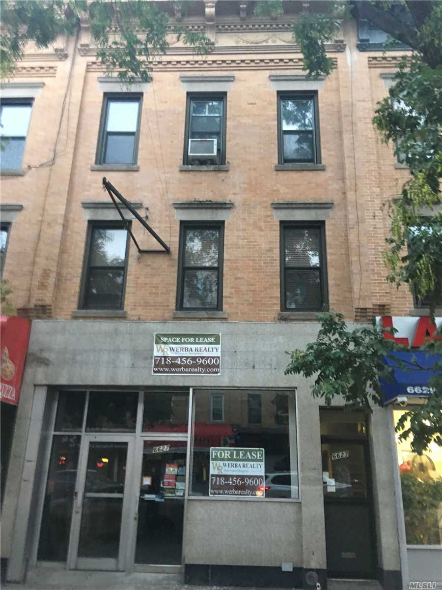 Excellent Opportunity For Restaurant/Retail/Office/Medical/Professional. Open Floorplan--Prime Location Just 2 1/2 Blocks To Fresh Pond Train--Landlord Open To Restaurant/Food Tenant Occupancy.  High Foot/Pedestrian Traffic. Start 2019 By Opening Up Shop In Ridgewood!