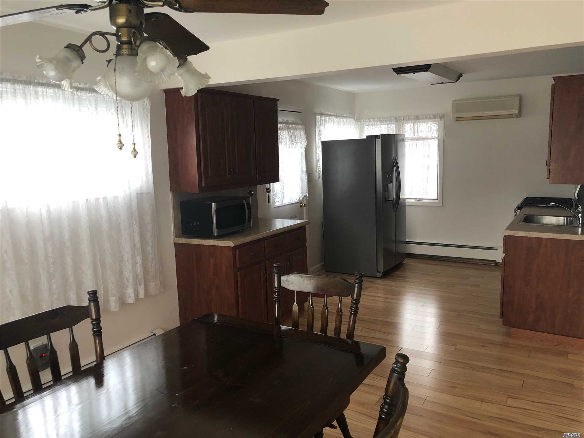 Neat &Clean Fully Renovated Midblock Location With Good Size Rooms, Huge Basement, With 2 New Baths And Decent Backyard With Ample Parking Space On Street And Dry. Close To Sob Rd Shopping Center, Hwy And 5 Mins Drive To Lirr. Pics Coming Soon