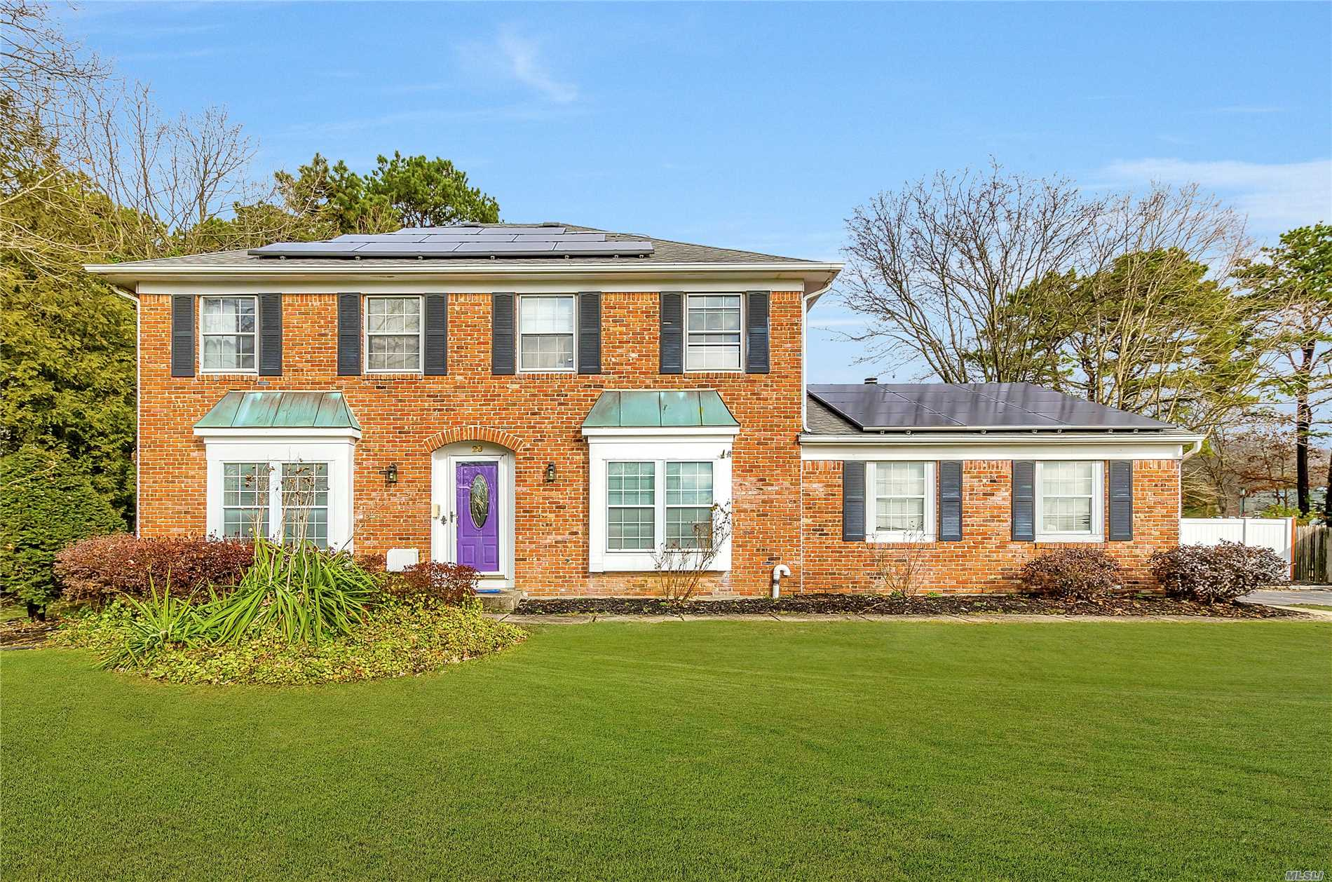 Stunning And Spacious Brick Front Colonial Offers 5Br, 3.5Ba Located On Fully Fenced 1/2 Acre. Home Has Solar Panels (2018), New Burner, Tank & Hw Heater (All 2018), And Plumbing Has Been Rerouted From Slab Through Walls With Ez Access. Private Entertainers Yard Has L-Shaped Pool With New Liner/Filter/Pump (2018) & Sports Court. Perfect Home For All