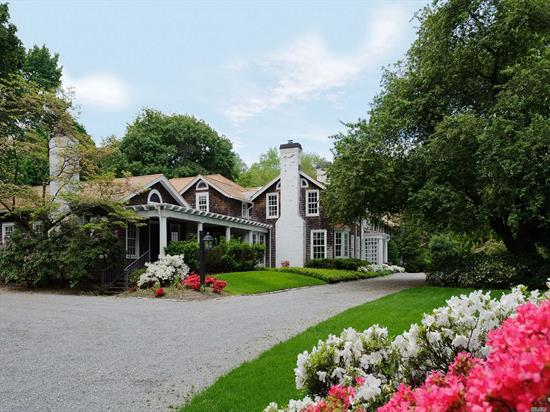 Fabulous House All Redone, Windows, Roof, Bathrooms, Kitchen. CAC. Over Sized Gunite, Heated Pool, On 2, 80 Acres. Studio Guest Cottage, W/Kitchen, Bathroom. 3 Car Garages. Taxes Successfully Grieved.
