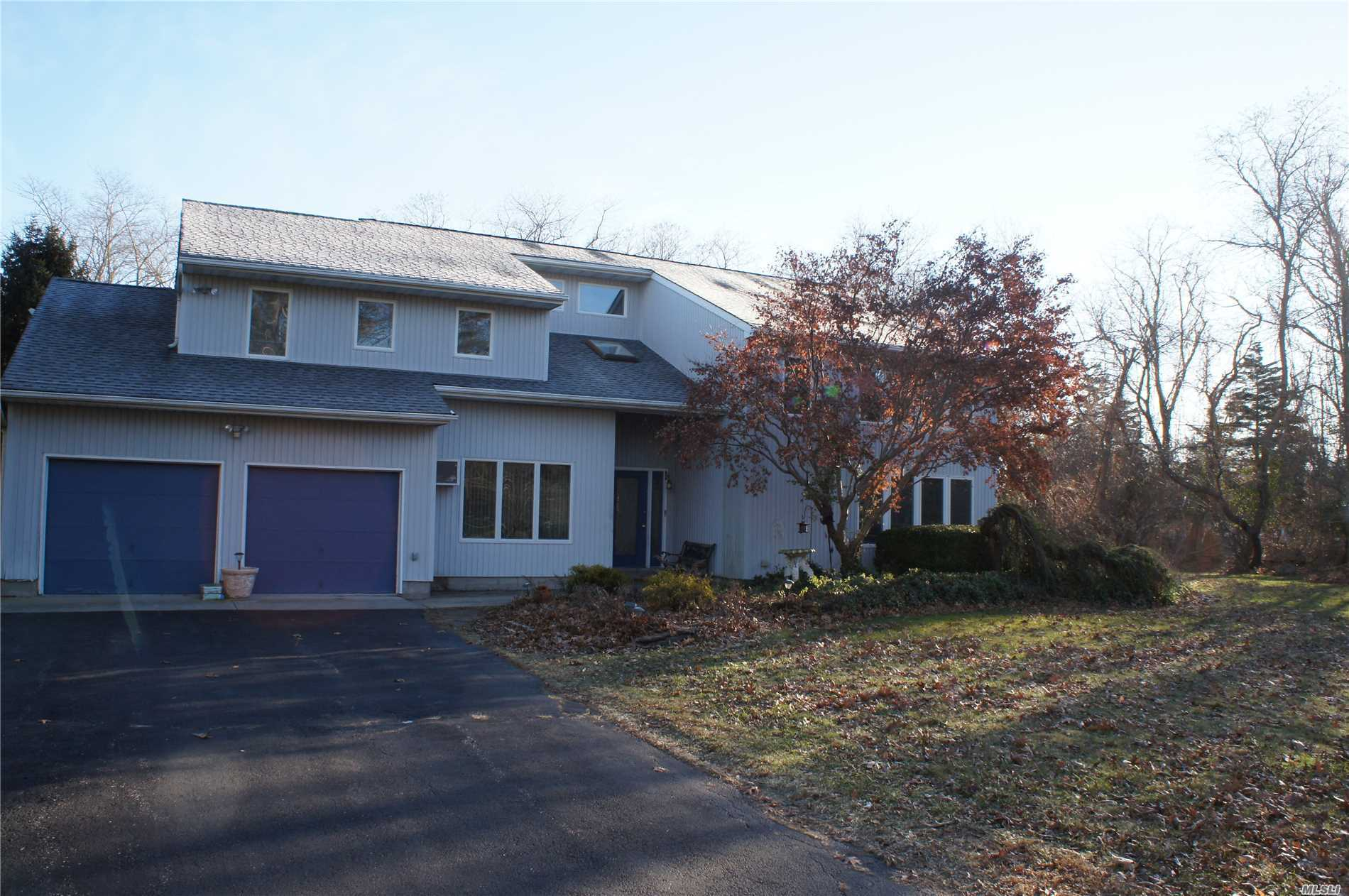 Incredible Custom Built Contemporary Style Home On 1.14 Private And Secluded Acres. 3600 Square Feet Of Living Space, Great For Entertaining. Formal Living And Dining Rooms, Den With Fireplace, Eat In Kitchen That Leads To Sundeck And In Ground Pool. Second Floor- Master Suite, 3 Bedrooms And Full Bath.