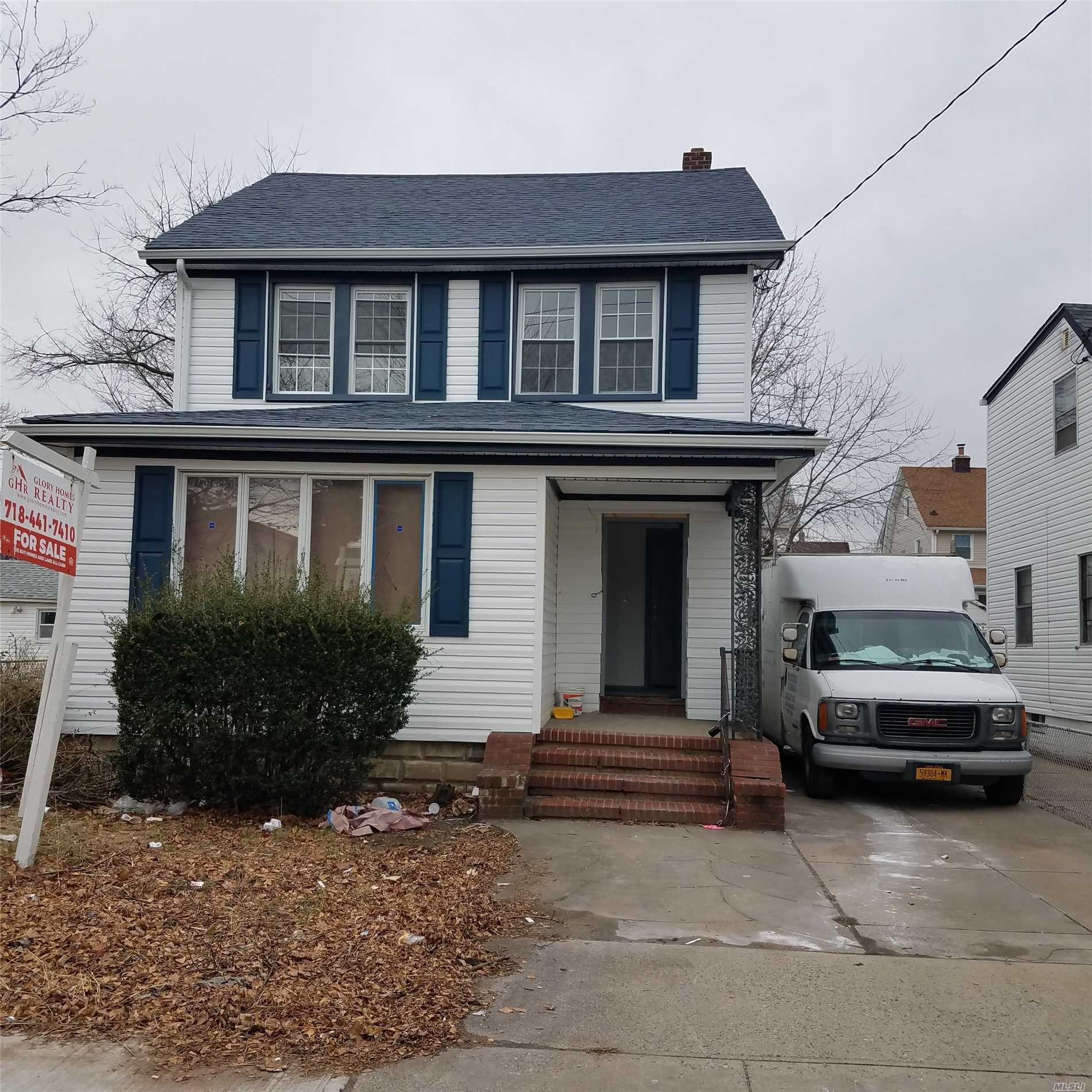 2 Family Detached 1st Floor - 3 Bedrooms, 1 Full Bath, Huge Kitchen 2nd Floor - 2 Bathrooms, 1 Full Bath Private Driveway Garage Full Finished Basement With Separate Entrance Big Backyard Lot 40X100 Very Quiet Block Fully Renovated