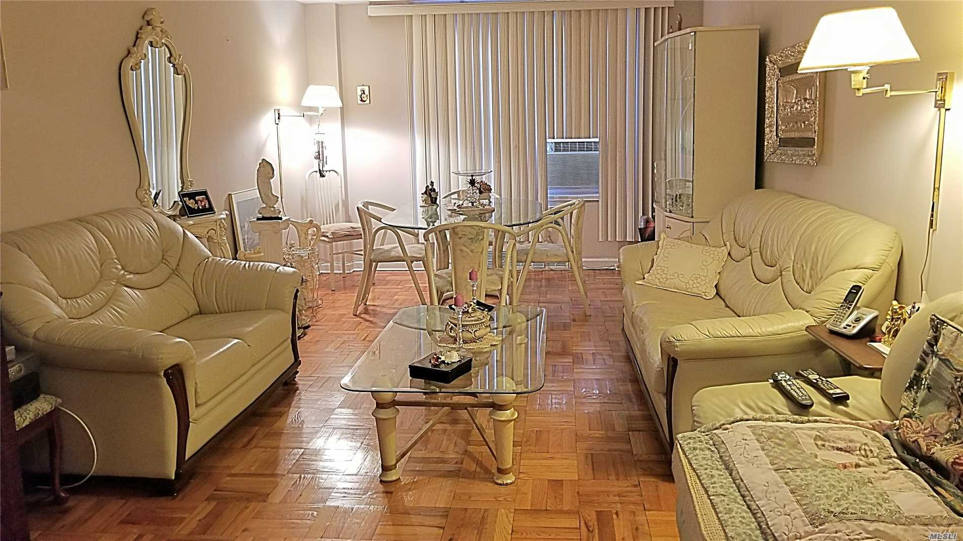 Spacious 2-Bedroom Coop Apartment. Perfect Layout. Nice Size Bedrooms. 1.5 Bathrooms. Large Living Room. Lots Of Closets. Eat In Kitchen. Laundry Onsite. Easy Commute Close To All Kind Of Transportation.
