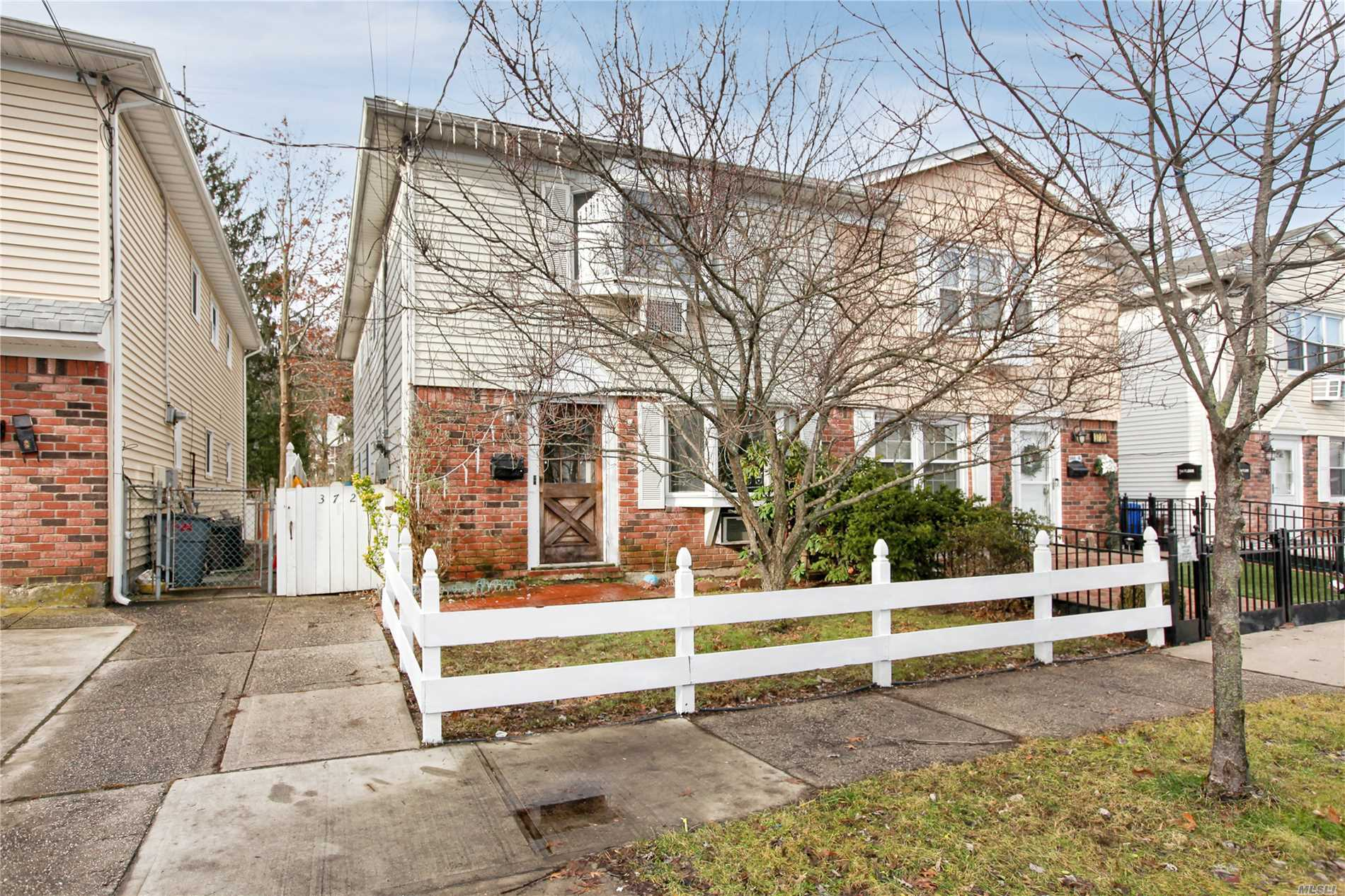 This Semi-Detached 2 Family Brick And Siding Home Features Bay Windows, Spacious Rooms, Oak And Marble Flooring, 8 Year Young Heating System & Freshly Painted. Enjoy The Summer With A Heated Above Ground Pool. All This Located In The Heart Of Little-Neck Near The Long Island Rail Road..The Home Located On A Prime Street With Lots Of Privacy With Nature Preserve In Rear Yard. This Home Will Not Last For This Price In Such A Prime Location.