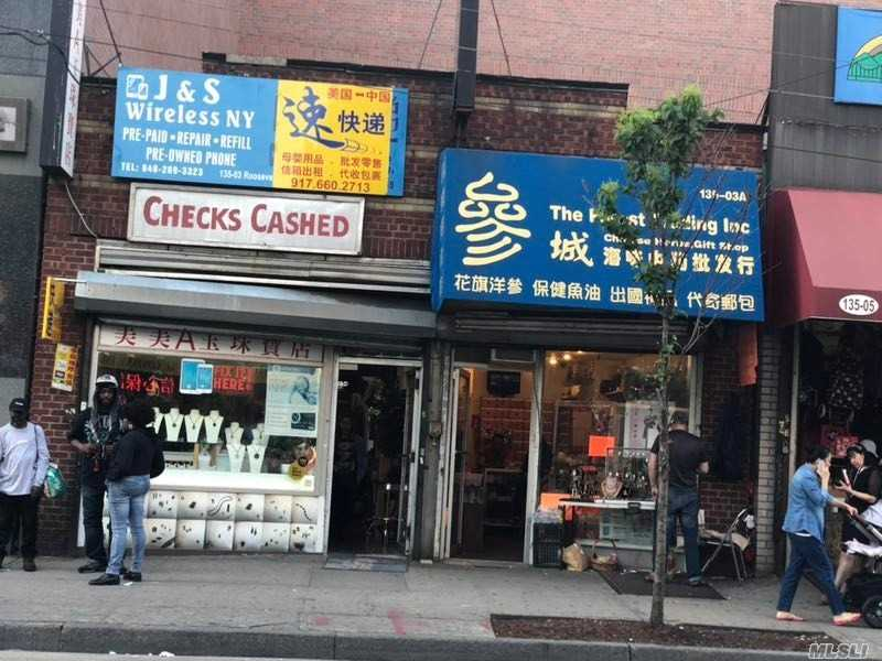 Retail Space At The Center Of Downtown Flushing For Lease. Currently Using As Two Stores, Can Be Combined As One. The Indoor Space Is 1880 Sf Plus A Basement. For Whole Rent: $35, 000/M, The R.E Tax Is Included. For Partial Rent: Space 1, 800 Sf, $15, 000/M, The R.E Tax Is Included. Space 2, 1, 080 Sf + Basement, $25, 000/M, The R.E Tax Is Included. *All Info Deemed Reliable But Is Not Guaranteed Accurate. Buyers Are Responsible For Verifying The Accuracy Of All Information.