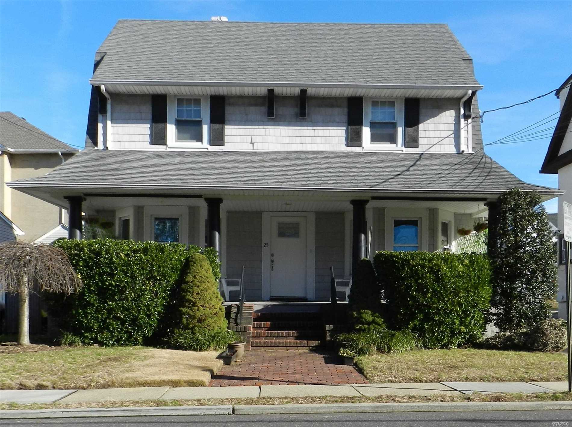 Beautiful Fully Renovated Two Bedroom, One Full Bath , Eat In Kitchen , Large Sunny Living Room, Front Porch , Private Parking , Use Of Washer And Dryer Shared , Close To Shopping And Railroad .