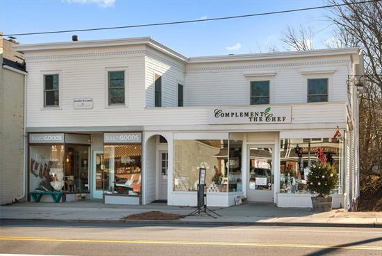 Prime North Fork Location! Four Unit, Two Story Building With Hamlet Business Zoning In The Heart Of Southold Shopping Area On Main Road. Next To Public Parking Lot With Over 20 Parking Spaces. Unfinished Basement Suitable For Storage.