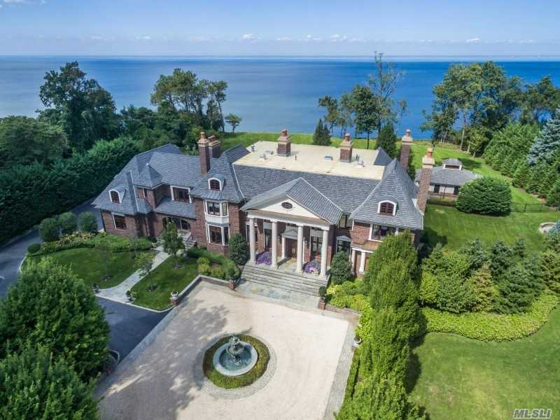 This Majestic Brick Manor Waterfront Estate Nestled On 3.49 Acres Is Luxuriously Appointed W The Finest Materials & Finishes. In Addition To Fine Milwork, Gracious Rooms, & 6 Fireplaces, It Features Billiards Rm, Theater, 2 Lane Amf Bowling, Gunite Pool, Cabana And 4 Car Garage W/2 Lifts. Comfortable Daily Living Amenities Meet Luxurious Decor- An Exceptional Residence!
