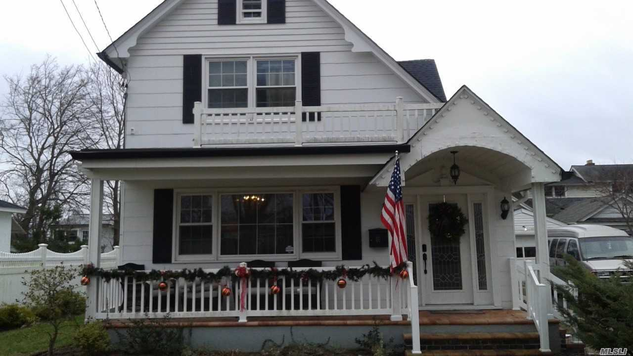Adorable Colonial In Mint Condition . Stainless Steel Appliances, Wood Floors, New Bathrooms, Beautiful Doors Into Den.Lots And Lots Of Storage. 2 Porches Front And Back........Its A Beauty!! Near Sayville Beach And Ferry. As Well As, The Quaint Town Of Sayville And All Shopping