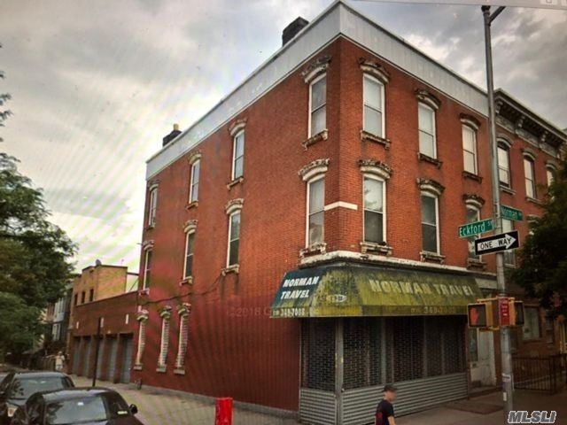 ~ Greenpoint Brooklyn ~ R6B Zoning ~~ Mixed Use Brick Corner Building ~~ Store + 2 ~~ 3 ( Three Bedroom Apartments On Each Floor ( 25 X 95 ) Low Real Estate Taxes $ 6089.00 1O Year Old Roof