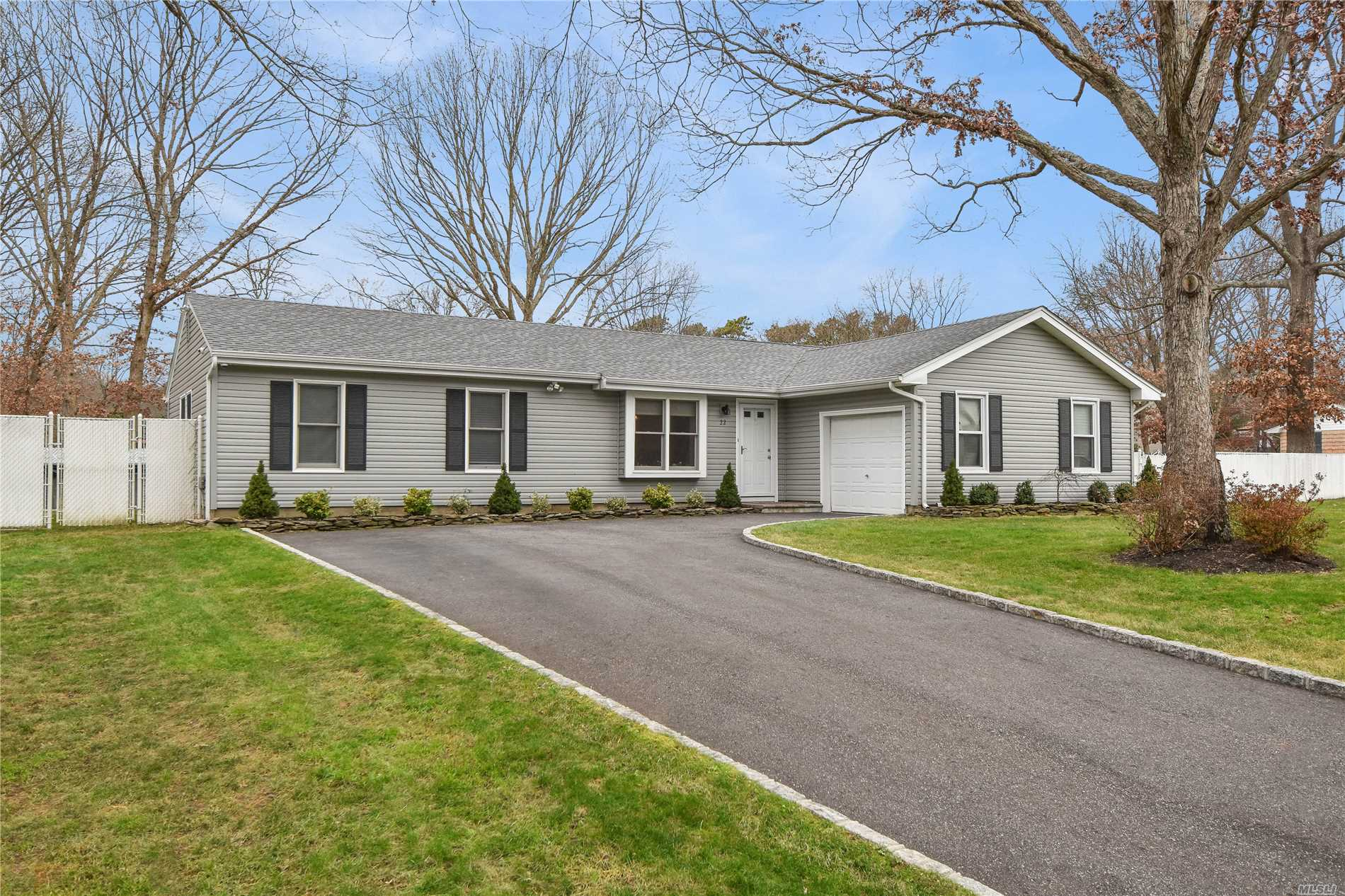 Beautifully Updated Ranch With Hi Hat Lighting And Vaulted Ceilings Updated Kitchen With Granite Counter Tops, 2 New Full Baths, New Flooring, Roof, Vinyl Siding And Driveway. Large Fully Fenced Corner Property With Paver Patio And Firepit.