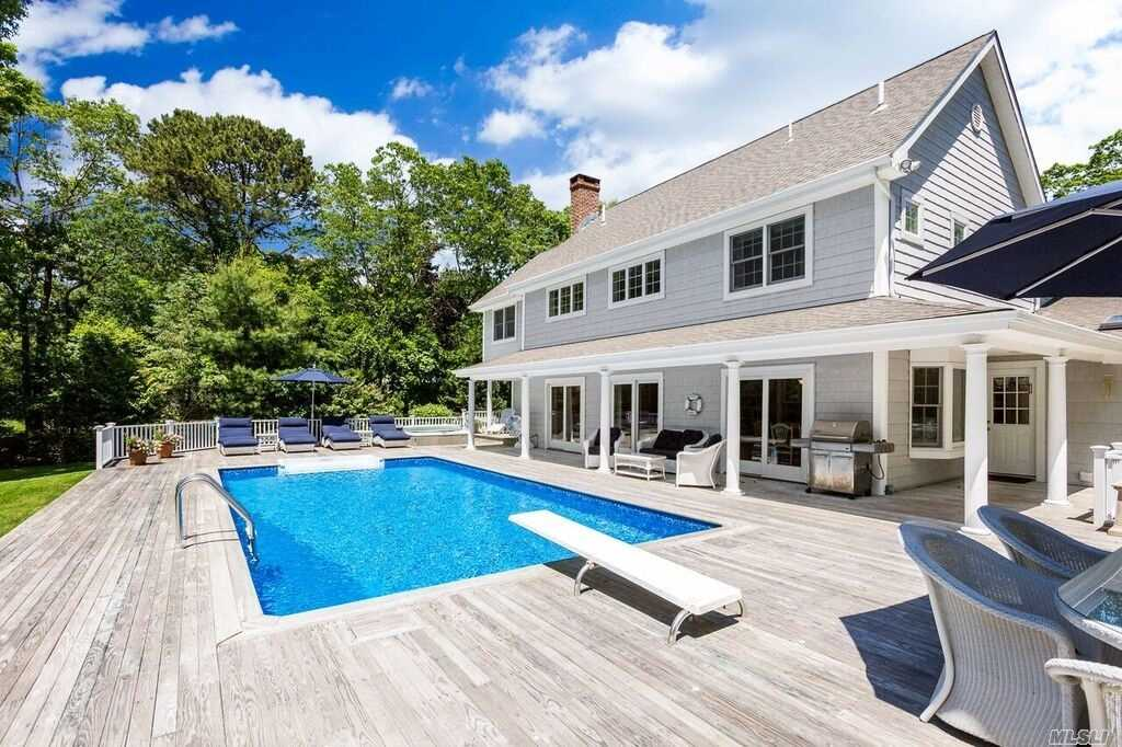 Nantucket Style Home Perfect For Entertaining! First Floor Includes Sunny Great Room W/Vaulted Ceiling Dining Area, Custom Kitchen Overlooking Htd Pool & Hot Tub. Master Suite With Bath, Bedroom/Den With Bath. Second Floor: Two Ensuite Bedrooms & Bonus Room. Extensive Deck Pool & Hot Tub Overlook Private Yard With Tennis Court. Access To Quogue Village Beach!