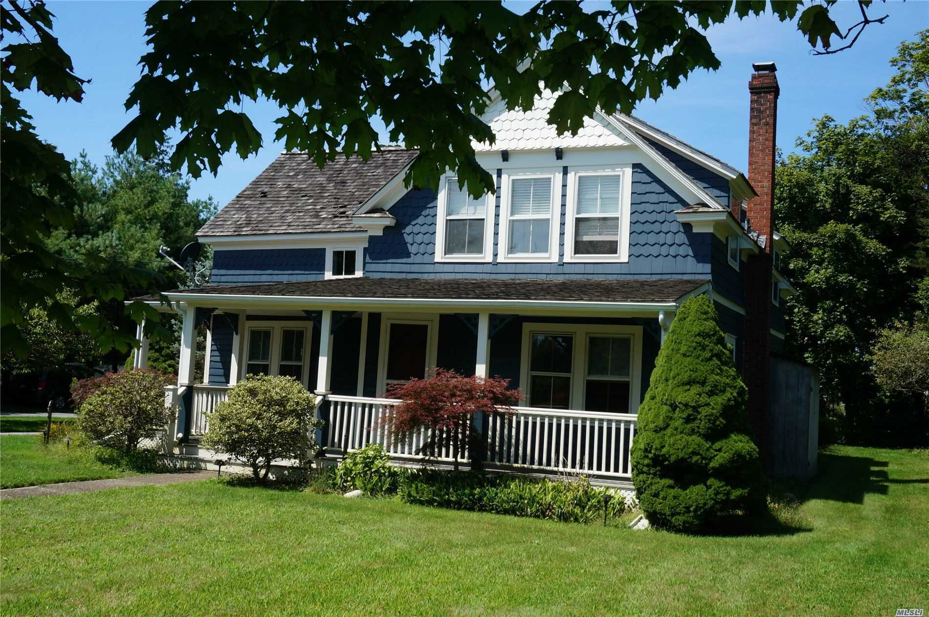 Quaint Victorian Home With Many Updates (Newer Cedar Roof /Pool Liner) Steps To Village And Bus Transportation From Nyc Freshly Painted Wood Burning Fireplace In Living Room With Built Ins Hardwood Floors Large Yard With Park Like Grounds And Heated Pool Separate Building Used As Studio/Office With Endless Possibilities Call To See Today!