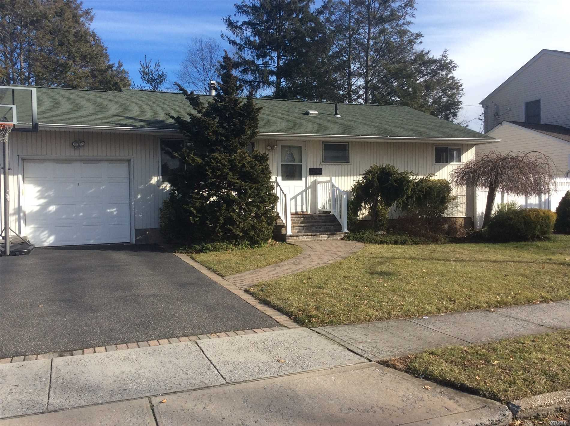 Expanded Ranch, Freshly Painted, Move Right In. Finished Basement With Full Bath, Central A/C, Large Fenced Back Yard, Updated Appliances, Wood Floors, Large Basement With Full Bath, 1 Car Attached Garage. May Consider Dog Or Cat