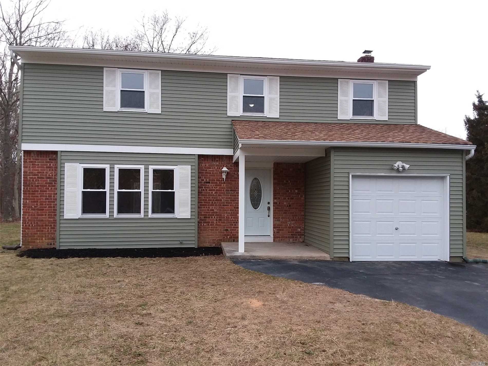 4 Br Colonial With Updated Kitchen, Bathrooms, Siding, Windows. Beautiful Property-Just Shy Of An Acre. Just Unpack And Move Right In!  The Lower Taxes Make This Property More Affordable.