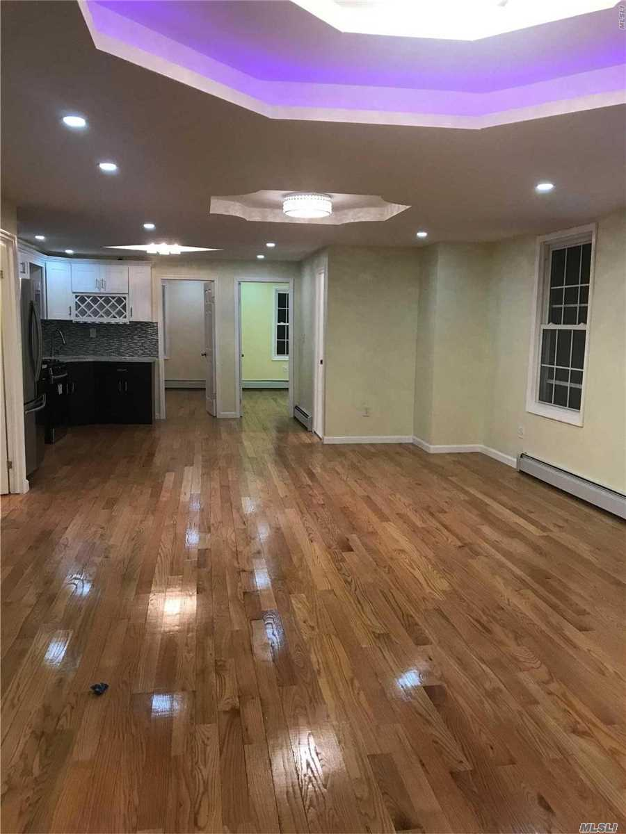 Fully Renovated 1st Floor, Spacious 3 Beds And 1 Bath. By Liberty Ave, Few Blocks From Train Stations, One Block From Markets. Available Immediately. Easy Showing