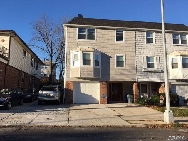 Beautifully Renovated And Spacious Triplex 3 Bed, 2.5 Bath, Garage Plus Additional Parking,  Back Yard. Tenant Pays Broker Commission