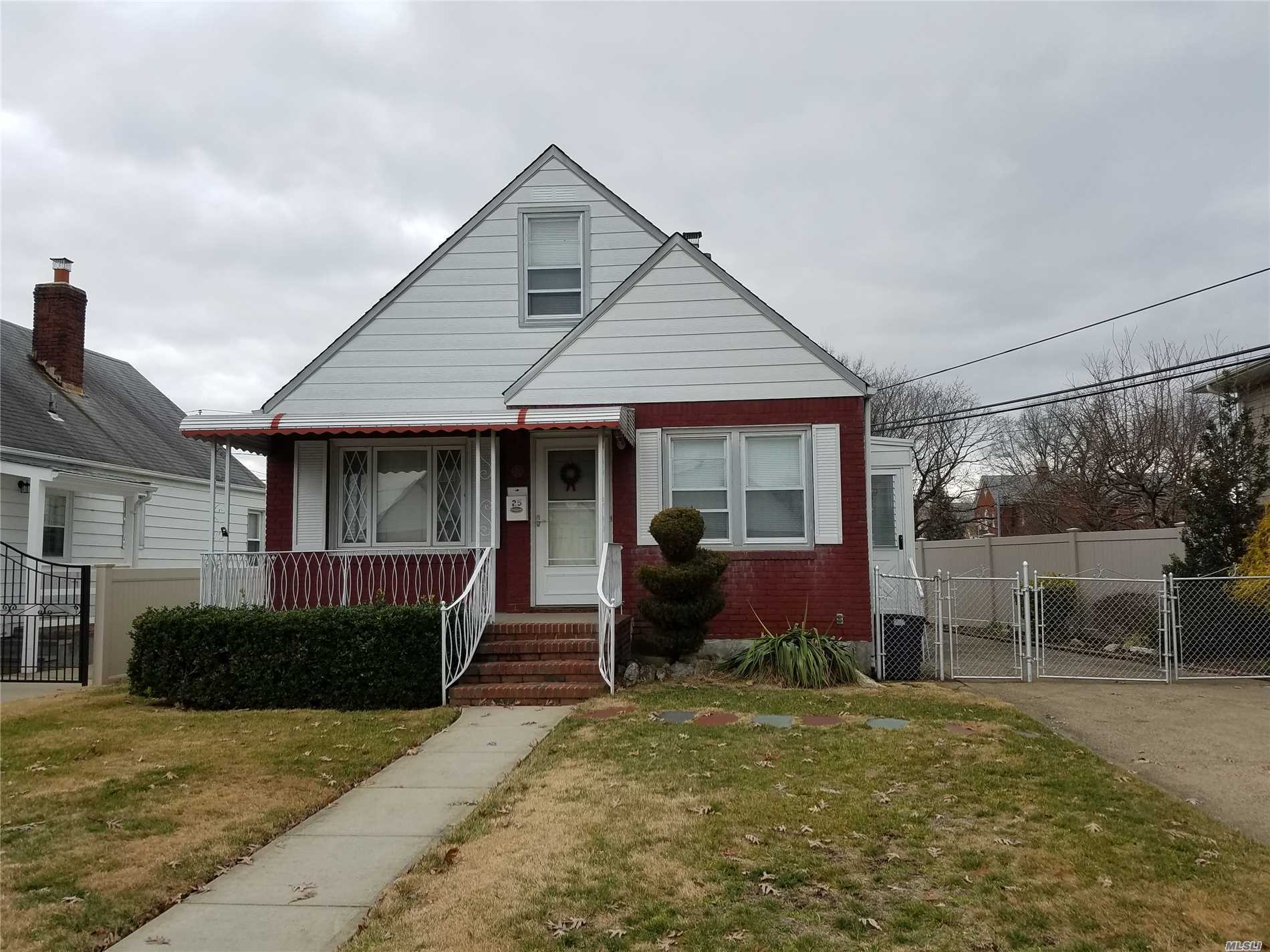 A Must See!! Be Sure Not To Miss This Bright Spacious 6 Room Cape Located On A Quiet Street. Features Include Living Room, Eat In Kitchen, 4 Bedrooms, Bath, 1/2 Finished Basement, New Appliances, Hardwood Floors On 62X106 Property.