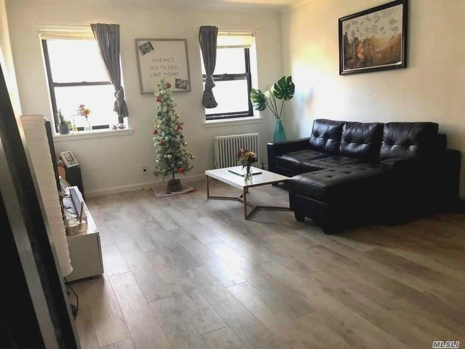 Cozy 1 Bedroom Unit On The 1st Floor! New Floors Throughout! Close To Bayside Lirr, Buses (Q12, 13, 27 & 31, Express Bus Qm3), Park, Highways And Shops. Dogs Ok With Approval. Min Down Only 10% Required. No Flip Tax! Pool In Complex. Waitlist For Garage Parking. Sublease Allowed. Must See!