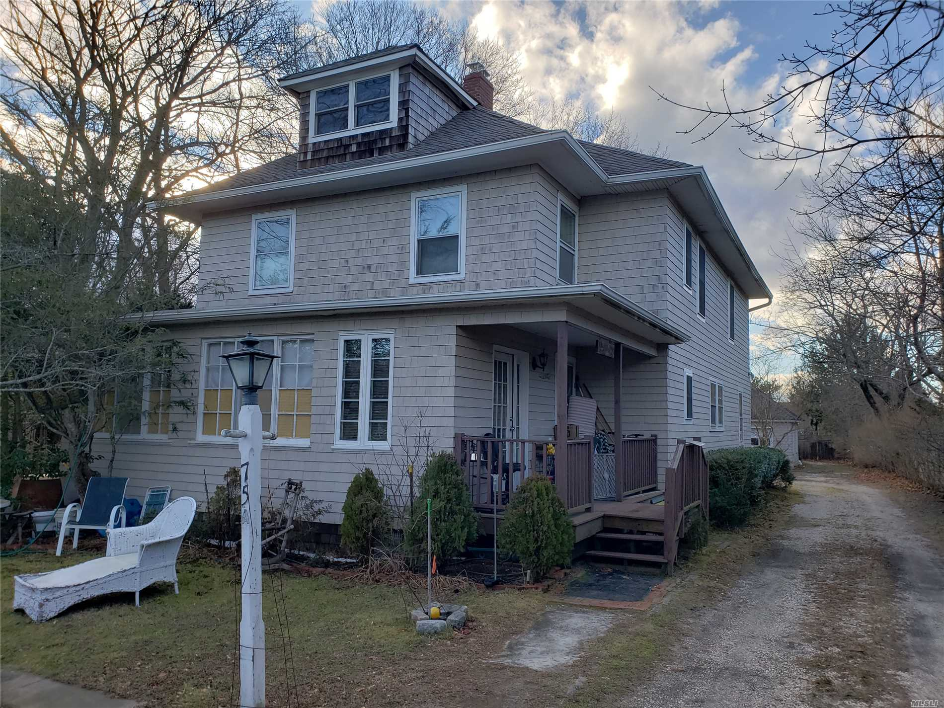 This 4 Bedroom 4.5 Bathroom Colonial Style Home Has Great Potential! The Roof, Siding, And Heating System Has Been Updated Within The Last 5 Years. The Interior Needs Renovation. Great Added Value Opportunity!