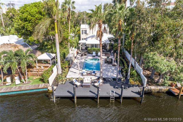 Highly Desirable Island Style Home Is One Of Seven Located Directly On The New River And Just Steps To Las Olas Shopping And Dining. This Gated 50+Ógé¼Gäó X 226+Ógé¼Gäó Property Offers 50 Feet On The New River With Updated Pool, Patio, Seawall And Dock. Fully Updated 3 Br/2.5 Ba Main House Features New Appliances, Wood Floors, Wood Burning Fireplace And Wraparound Porch Plus A 1 Br/1 Ba Guest House And A 1 Car Garage. This Highly Desirable Property Is Also Well Suited For New Construction And Priced At Land Value.