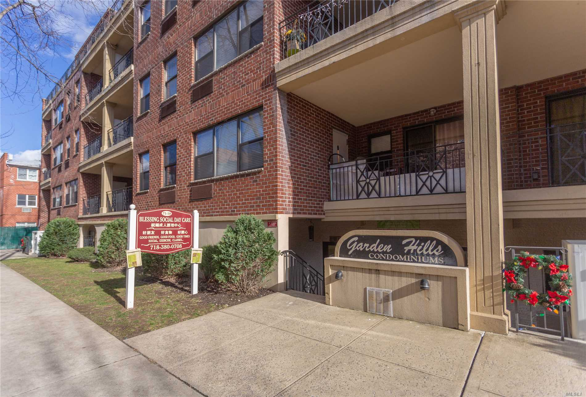 This Beautiful 2 Bedrooms, 2 Updated Full Bathrooms With Grohe Faucet,  Living, Dining Rooms, Formal Kitchen With Granite Counter Tops, Stainless Steel Appliances, Hardwood Floors, Washer & Dryer In Unit, Large Balcony, Convenient To Shopping & Transportation Bus Q65, Q25, Q34 25Mins To Main St. Must See This Will Not Last.