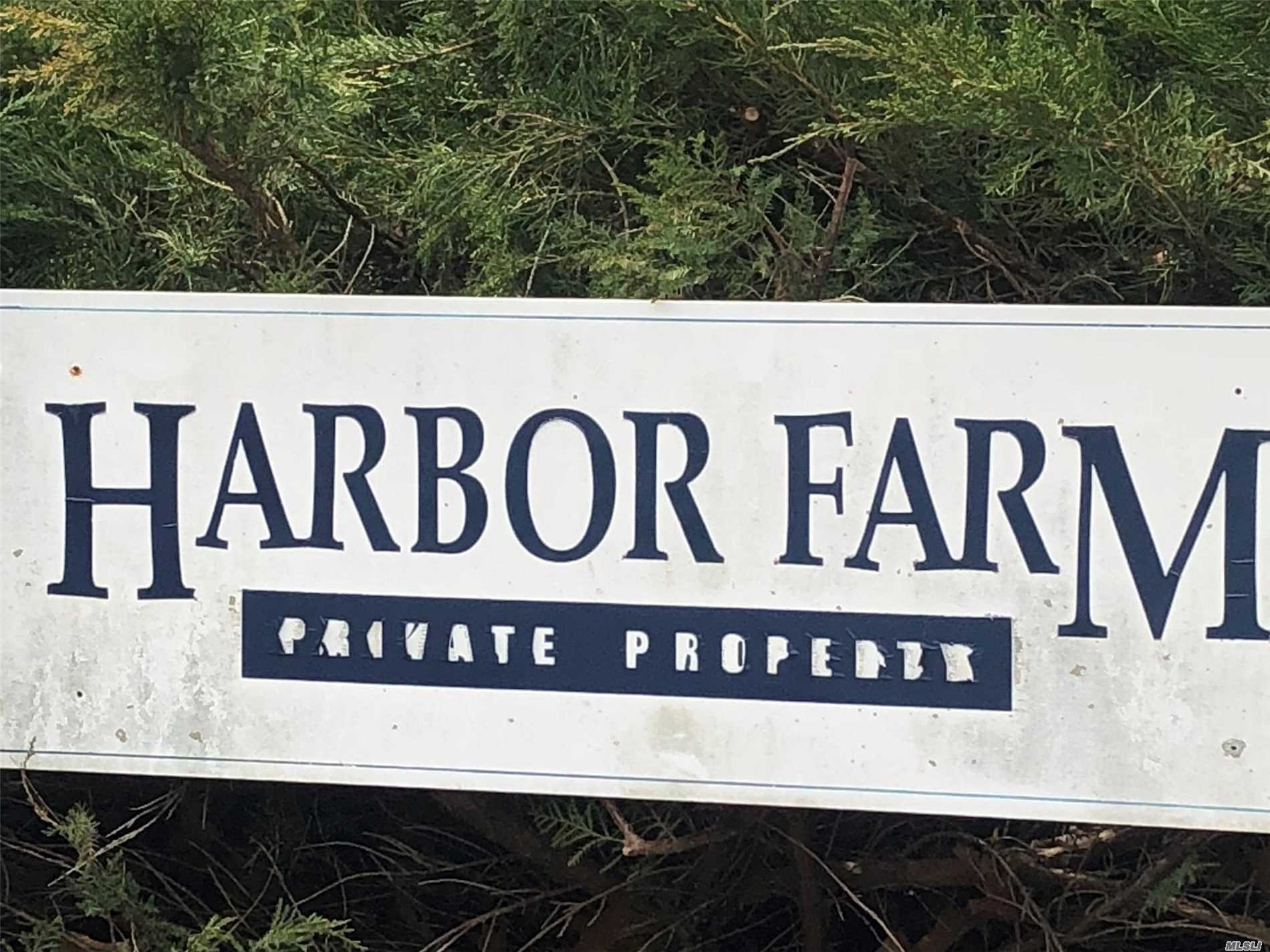 One Plus Acre Building Lot In Prestigious Harbor Farms Community. Board Of Health Permits In Place And Transferable. Mature Trees And Landscaping Throughout The Community, Deeded Beach Rights For The Community. Room For A Pool And Gardens On Lot. Near Vineyards, Farm Stands, Fine Dining And Everything That Makes The North Fork Special.