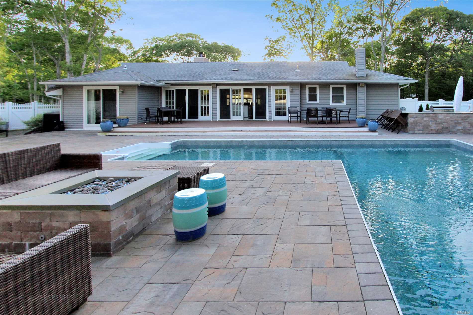 Come Enjoy This First To Market Beautiful Remodeled 5-Bedroom, 3 Bath Spacious Interior Home With An Elegant And Modern Kitchen, Large Center Island, Complete With A Gas-Range Stove. The Sprawling, Open Dining Space Is Designed To Accommodate Groups Large And Small - Plus A Finished Basement. The Entertaining Space Continues Outdoors With A Sweeping Back Patio, Barbeque Station And An Above-Ground, Stone Fire Pit. Unwind Each Evening Next To The Residence's Serene, L-Shaped 20'X50' Ft Pool.