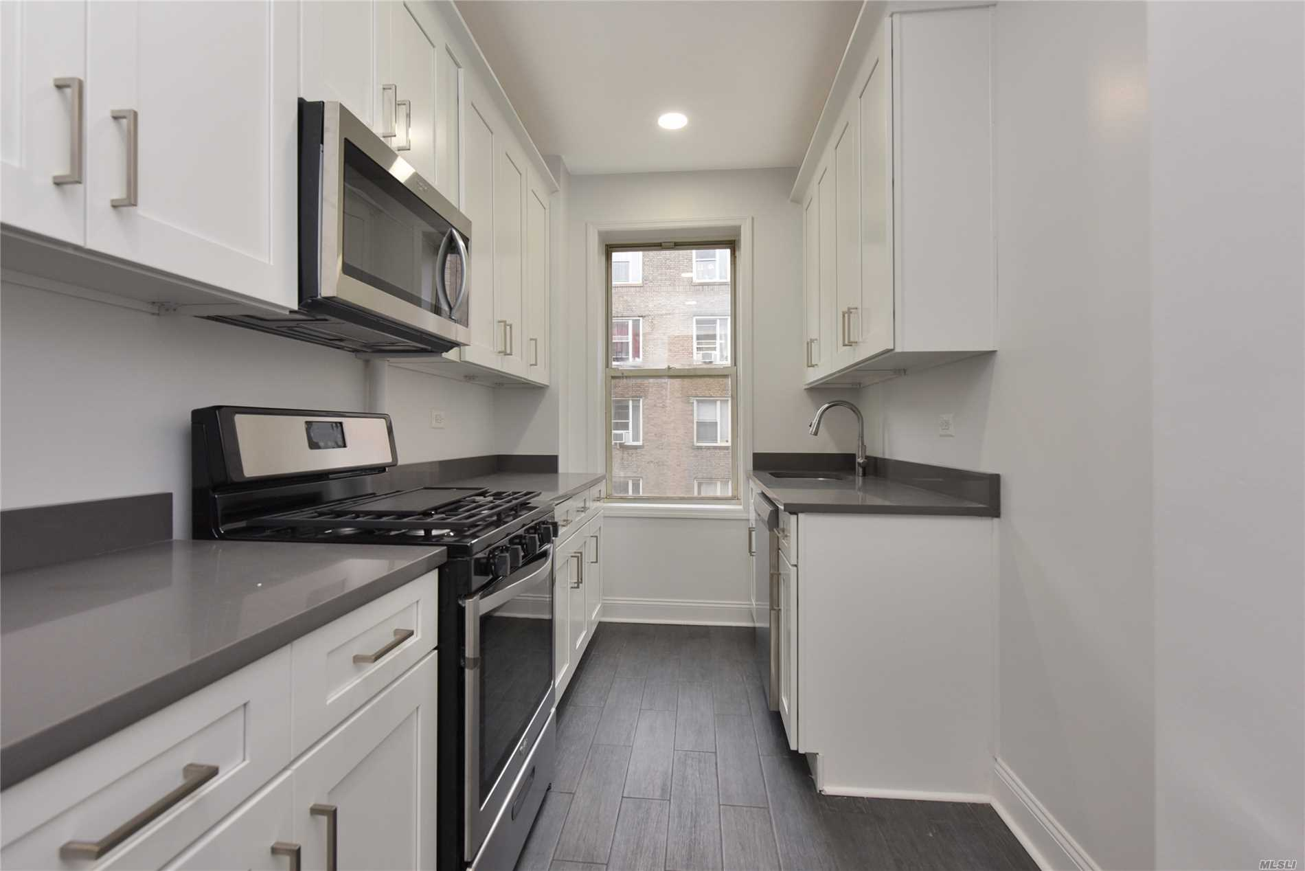 No Board Approval-Sponsor Unit! 3rd Floor, Sunny, Fully Renovated 2 Bedroom, 1.5 Bathroom Apartment With Hardwood Floors Throughout, High Ceilings, Lots Of Closets. Located Half A Block To The 7 Train Station. Near All. Great Location. A Must See!