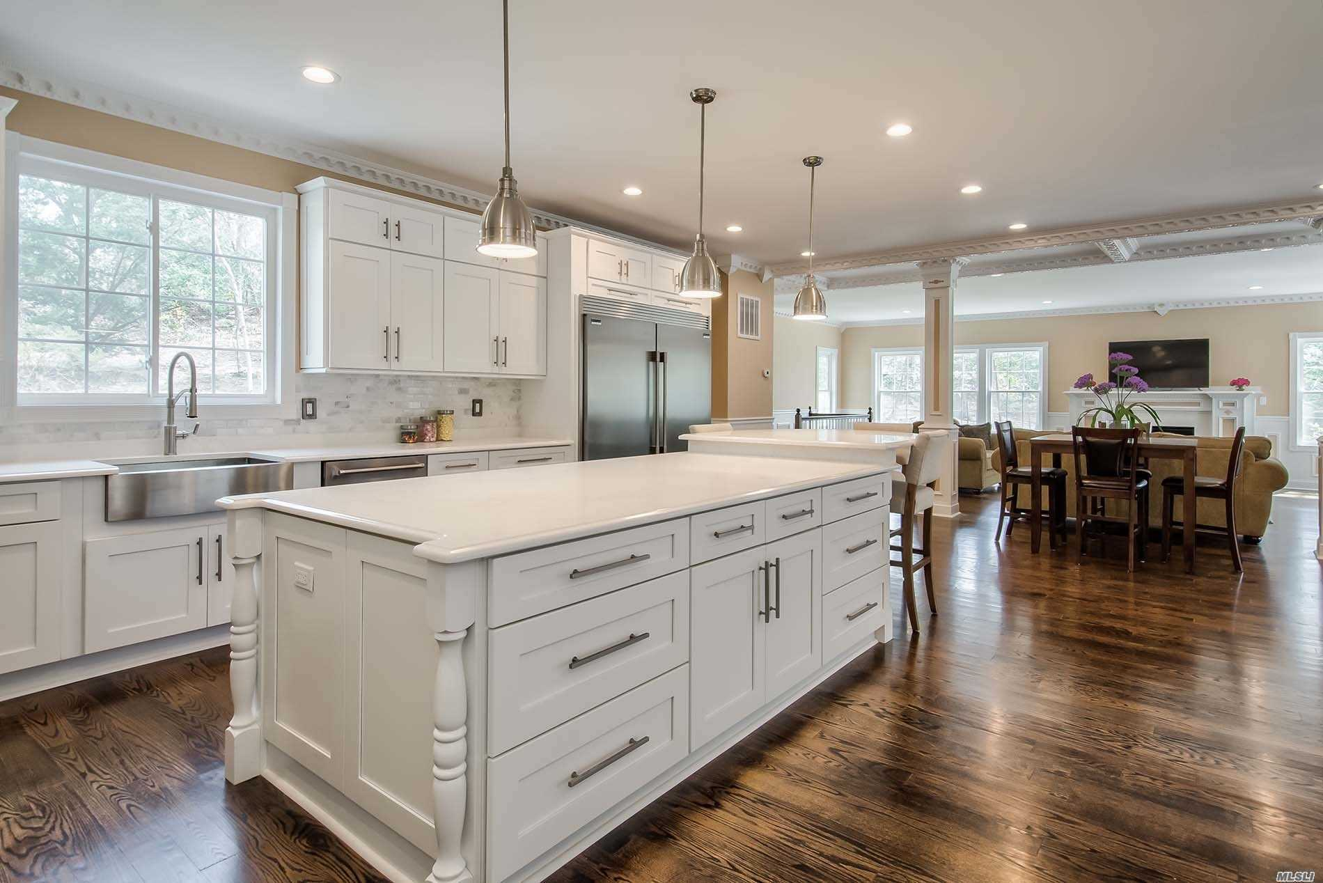 Masterpiece New Construction! Ultimate Luxury Living In This Stunning 5 Bedroom, 5.5 Bath Colonial On 1 Serene Acre In North Syosset. 2 Story Entry Foyer, Detailed Moldings & Millwork, French Doors, Elegant Formal Rooms, Great Room W/ Fireplace, Chef's Kitchen W/Large Center Island & High End Appliances, Dramatic Breakfast Room, Grand Master Bedroom Suite, Designer Baths, Finished Basement W/Outside Entrance, Trex Deck, Inground Pool. A Dream House Just Completed!