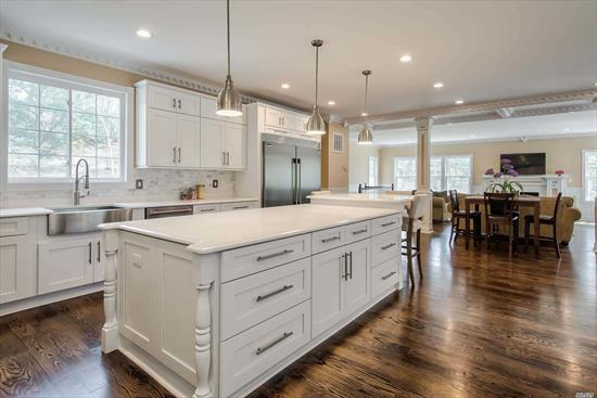 Exquisite New Construction Featuring 5 Bedrooms & 5.5 Designer Baths, 5000+ Sq Ft, On 1 Acre In One Of The Most Sought After Neighborhoods In The Famed Syosset School District. Custom Designed With The Finest Finishes, Fabulous For Entertaining With An Open Floor Plan, Great Room with Fireplace, Stunning Kitchen, Breakfast Room, Formal Dining & Living Rooms, Master Suite With 2 Walk-In-Closets. Finished Basement With Outside Entrance. Private & Tranquil Backyard Setting With Trex Decking & In-ground Pool. Exceptional In Every Way!