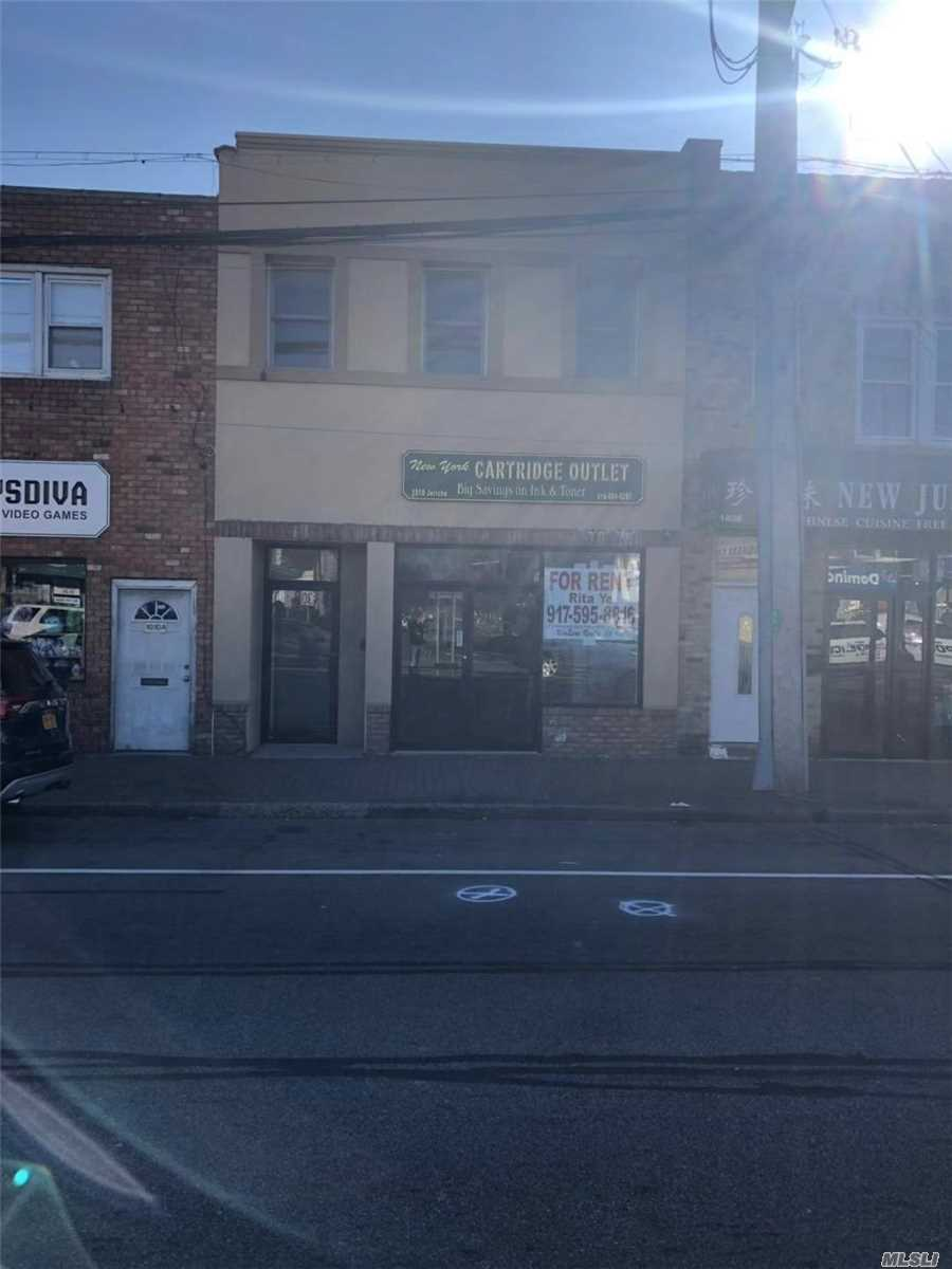 Excellent Location With Excellent Condition. 1330 Sqft Storefront On First Floor, And 1330 Sqft In The Basement Good For Office, Retail Etc. Lots Opportunities. Second Floor With 2 Bedrooms, 1 Full Bathroom And A Huge Living Room, Full Kitchen. Walking Distance To Lirr, Easy Commute.