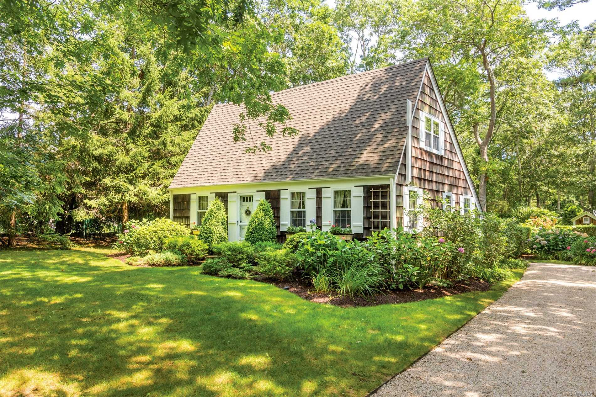 Charming Shingled Cottage In Wainscott - The Best Priced Home South Of The Highway. Surround Yourself With The Warmth Of Wood In Open Main Floor Living Areas With Custom Paneled Walls. Living/Dining Room Has A Wood-Burning Fireplace; A Bedroom And Full Bath Are Down The Hall. The Master Bedroom Is Upstairs In An A-Frame Loft With Beamed Ceiling And Wood-Paneled Walls. Relax In The Private Backyard, With A Shingled Shed And Brick Patio. Famed Beach Lane Is Moments Away. First Time Listed!